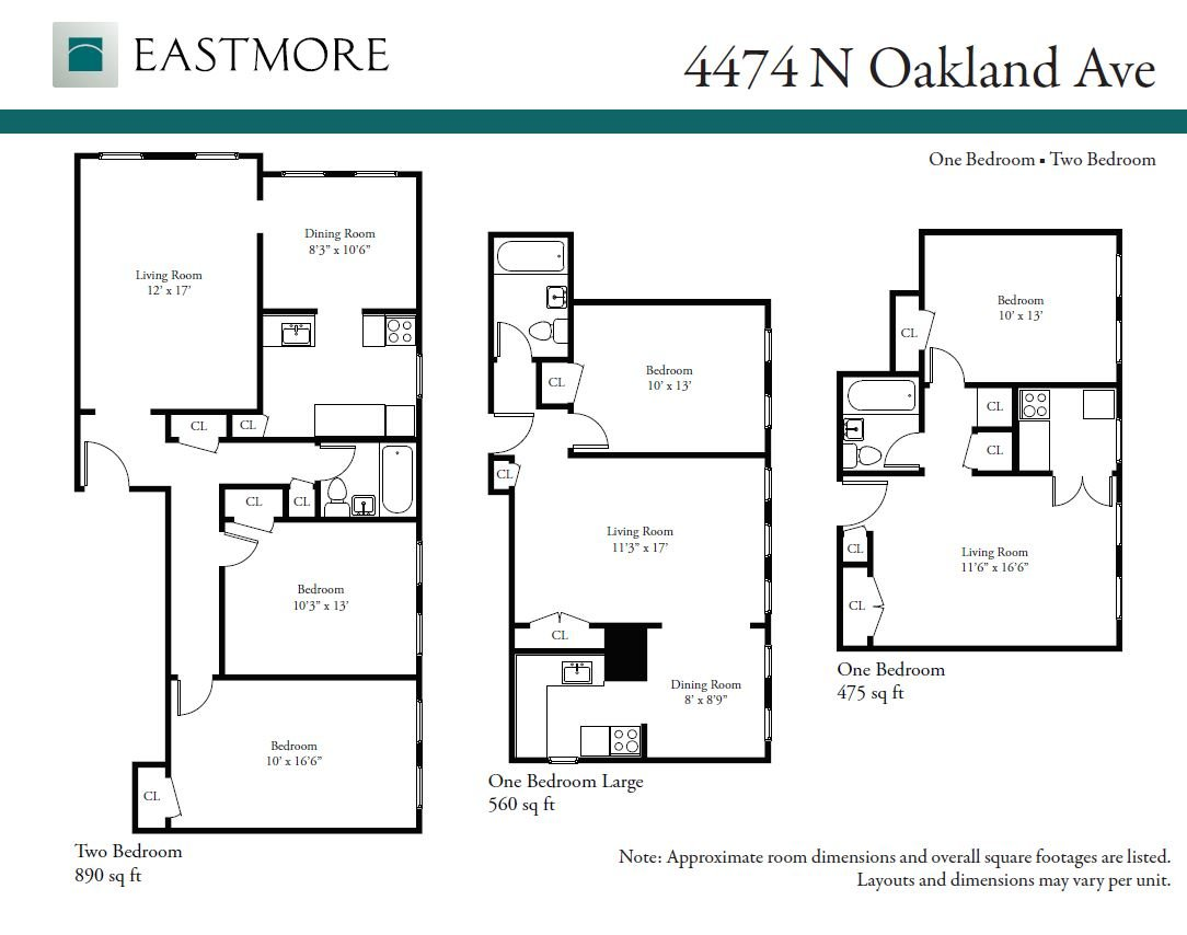 1 Bedroom 1 Bathroom Apartment for rent at 4474 N. Oakland Ave. in Shorewood, WI