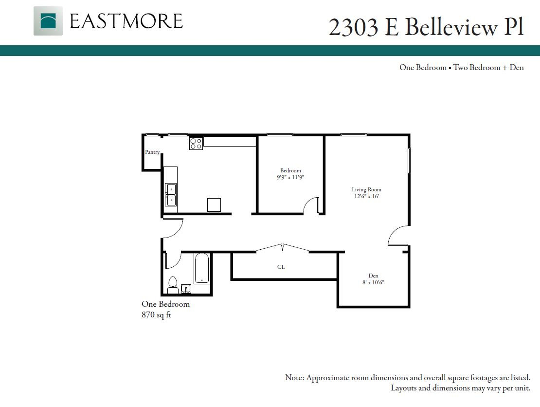 1 Bedroom 1 Bathroom Apartment for rent at 2303 E. Bellview Pl. in Milwaukee, WI