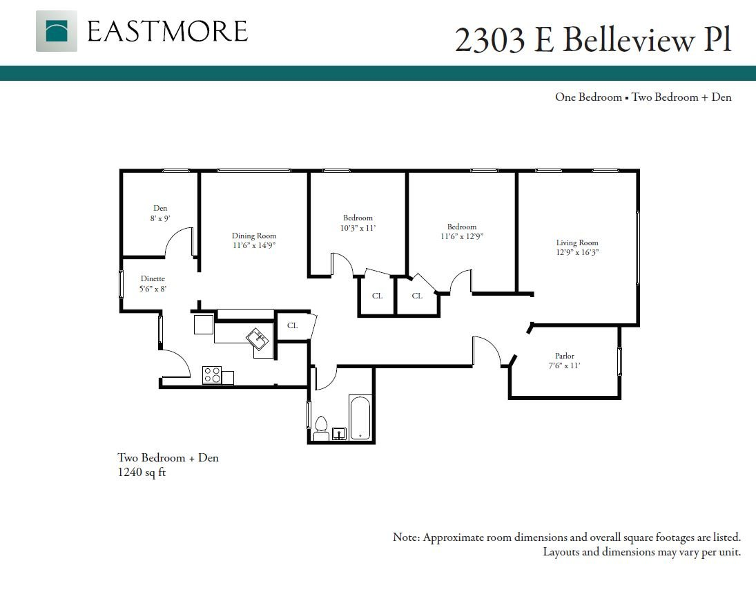 2 Bedrooms 1 Bathroom Apartment for rent at 2303 E. Bellview Pl. in Milwaukee, WI