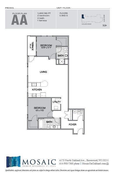 2 Bedrooms 2 Bathrooms Apartment for rent at Mosaic On Oakland in Shorewood, WI