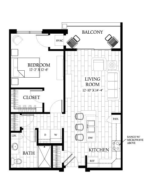 1 Bedroom 1 Bathroom Apartment for rent at Saxony Village Apartments in Germantown, WI