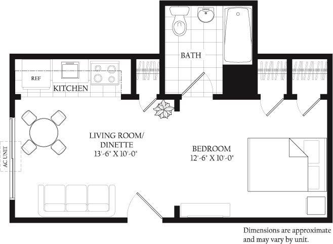 Studio 1 Bathroom Apartment for rent at Main Plaza Apartments in Menomonee Falls, WI