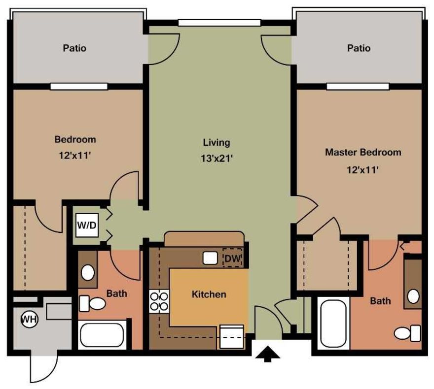 2 Bedrooms 2 Bathrooms Apartment for rent at Chatham Commons Of Cranberry in Cranberry Twp, PA