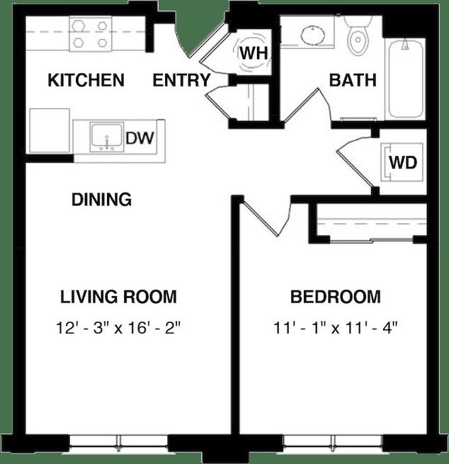1 Bedroom 1 Bathroom Apartment for rent at Evans Station Lofts in Denver, CO