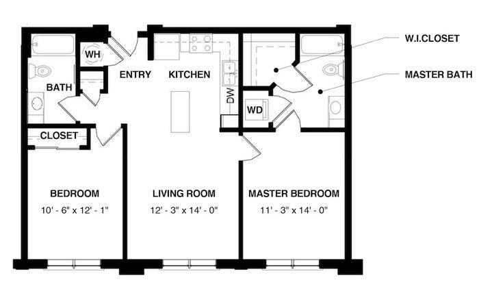 2 Bedrooms 2 Bathrooms Apartment for rent at Evans Station Lofts in Denver, CO