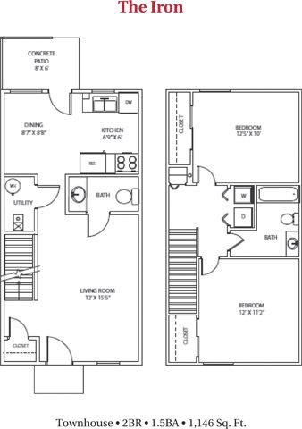 2 Bedrooms 2 Bathrooms Apartment for rent at Meadow Brook in Butler, PA