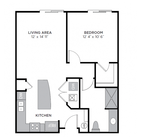 1 Bedroom 1 Bathroom Apartment for rent at Lc Riversouth in Columbus, OH