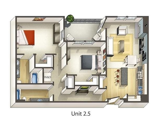 2 Bedrooms 2 Bathrooms Apartment for rent at Arbour Square Apartments in Westminster, CO