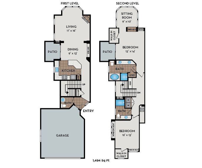 2 Bedrooms 3 Bathrooms Apartment for rent at The Meadows At Meridian in Parker, CO