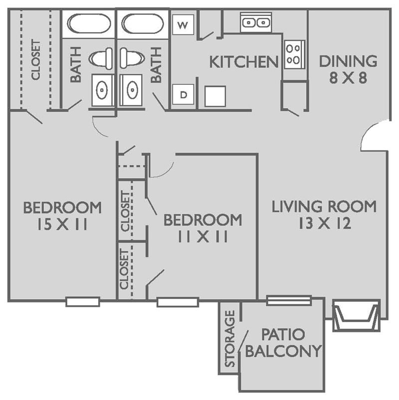 2 Bedrooms 2 Bathrooms Apartment for rent at Bridgepoint Apartments in Waxahachie, TX