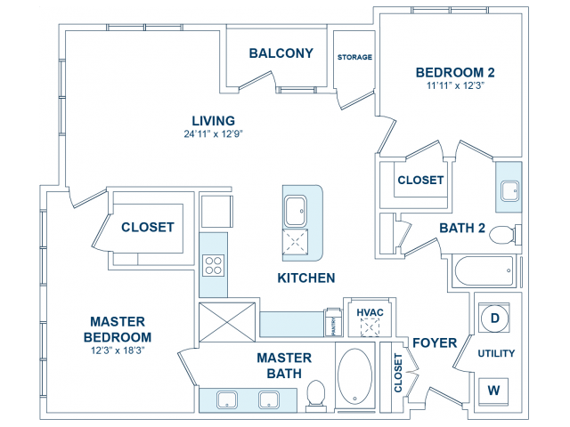 2 Bedrooms 2 Bathrooms Apartment for rent at The Jane At Preston Trails in Cedar Hill, TX