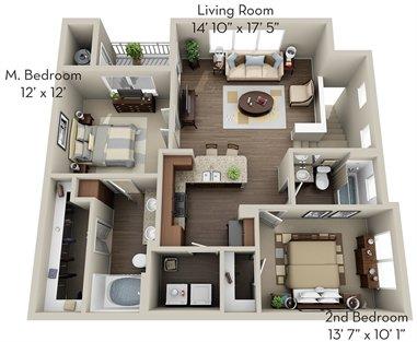 2 Bedrooms 2 Bathrooms Apartment for rent at Olympus Waterford in Keller, TX