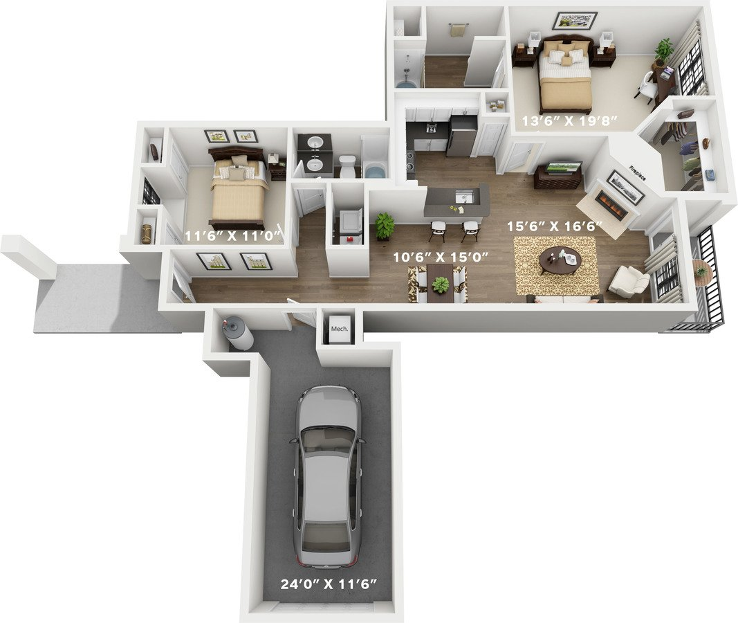 2 Bedrooms 2 Bathrooms Apartment for rent at The Delano At North Richland Hills in North Richland Hills, TX