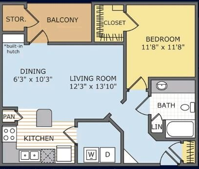 1 Bedroom 1 Bathroom Apartment for rent at Legends At Lowes Farm in Mansfield, TX