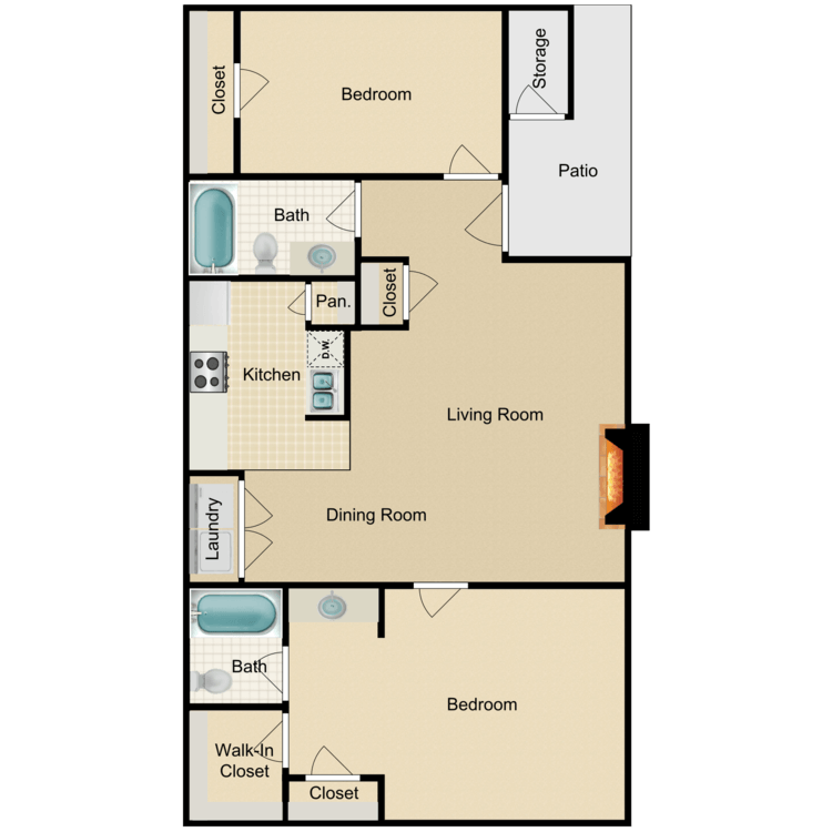 2 Bedrooms 2 Bathrooms Apartment for rent at Victorian Square in Waxahachie, TX