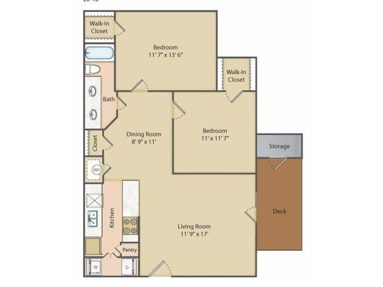 2 Bedrooms 1 Bathroom Apartment for rent at Lake Shore Apartment Homes in Springfield, MO