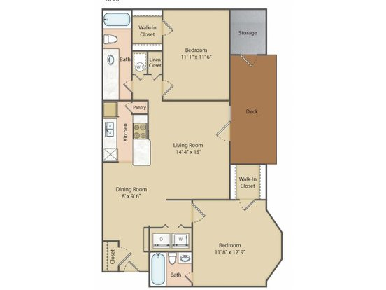 2 Bedrooms 2 Bathrooms Apartment for rent at Lake Shore Apartment Homes in Springfield, MO
