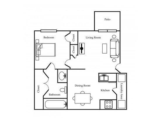 1 Bedroom 1 Bathroom Apartment for rent at Ozark Plantation in Ozark, MO