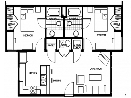 2 Bedrooms 2 Bathrooms Apartment for rent at Deep Elm in Springfield, MO