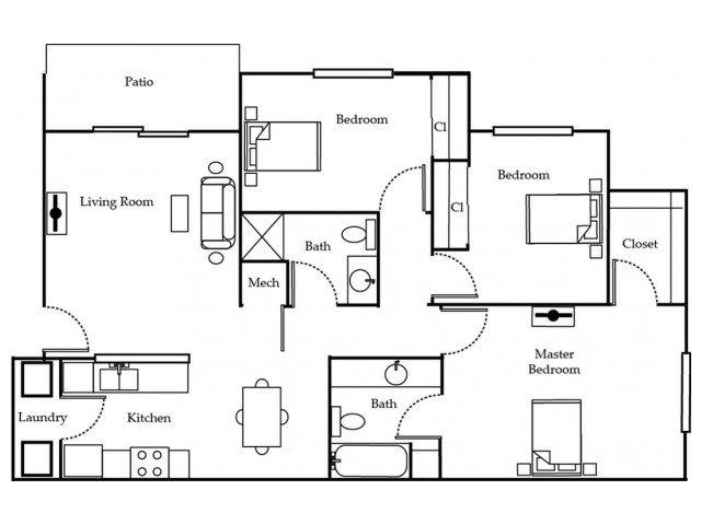 3 Bedrooms 2 Bathrooms Apartment for rent at Ozark Plantation in Ozark, MO