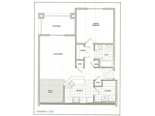 1 Bedroom 1 Bathroom Apartment for rent at The Villages At Nathanael Greene in Springfield, MO