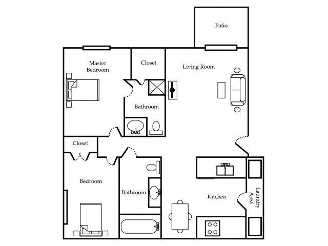 2 Bedrooms 2 Bathrooms Apartment for rent at Ozark Plantation in Ozark, MO