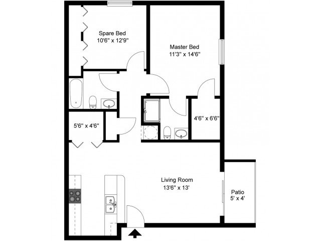2 Bedrooms 2 Bathrooms Apartment for rent at The Pavilion On Battlefield in Springfield, MO