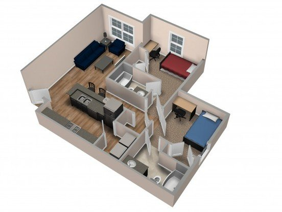 2 Bedrooms 2 Bathrooms Apartment for rent at Beacon Suites in Springfield, MO