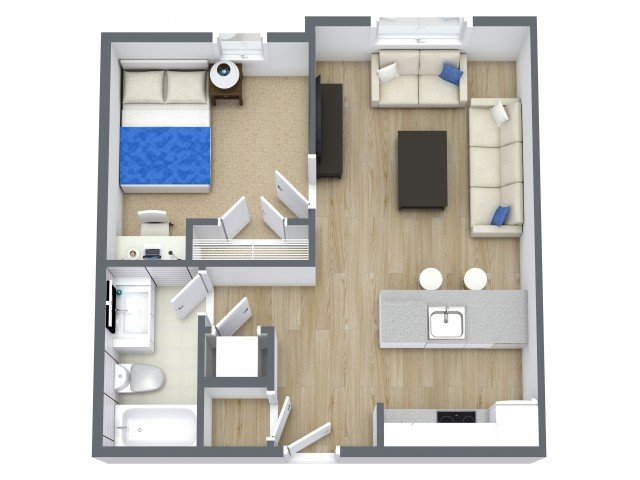 1 Bedroom 1 Bathroom Apartment for rent at Beacon Suites in Springfield, MO