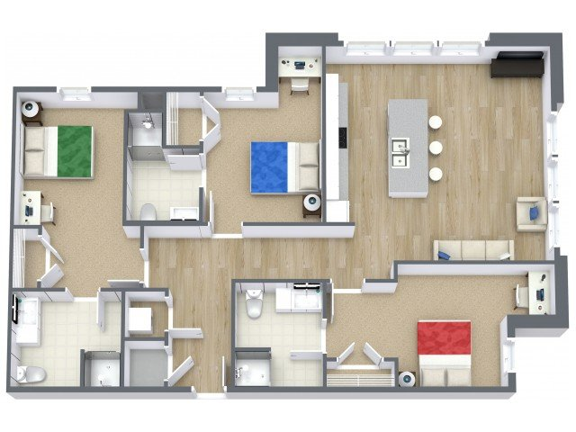 3 Bedrooms 3 Bathrooms Apartment for rent at Beacon Suites in Springfield, MO