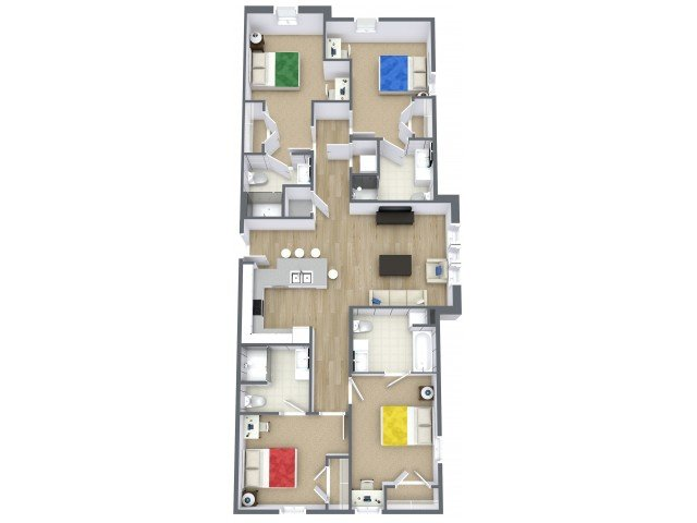 4 Bedrooms 4+ Bathrooms Apartment for rent at Beacon Suites in Springfield, MO