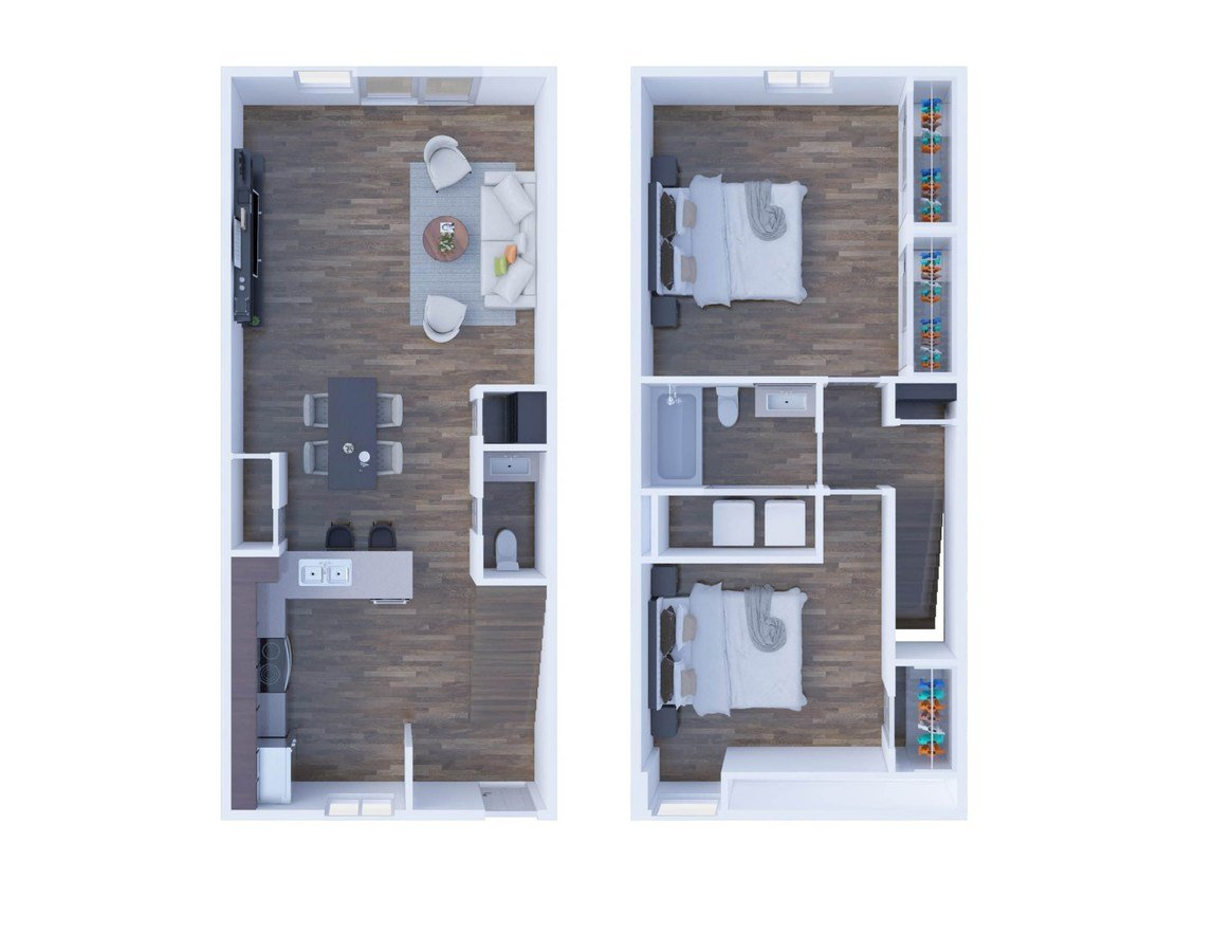 2 Bedrooms 2 Bathrooms Apartment for rent at The Residences On 56th Street in Indianapolis, IN