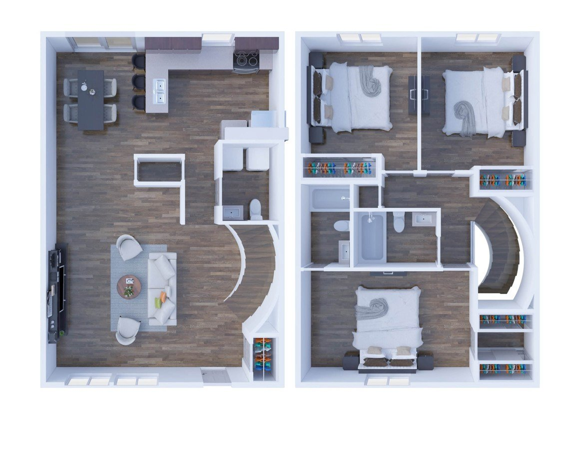 3 Bedrooms 3 Bathrooms Apartment for rent at The Residences On 56th Street in Indianapolis, IN