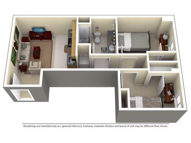2 Bedrooms 1 Bathroom Apartment for rent at 100 Midtown in Atlanta, GA