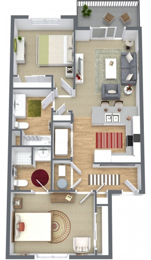 2 Bedrooms 2 Bathrooms Apartment for rent at Sawyer Pointe in Harrisburg, SD