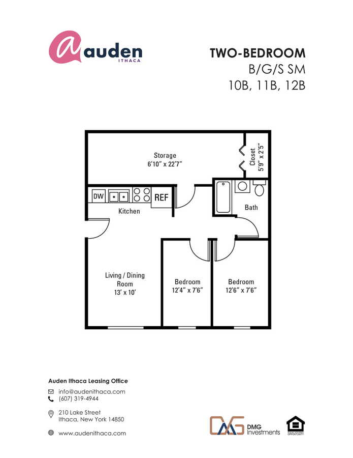 2 Bedrooms 1 Bathroom Apartment for rent at Auden Ithaca in Ithaca, NY