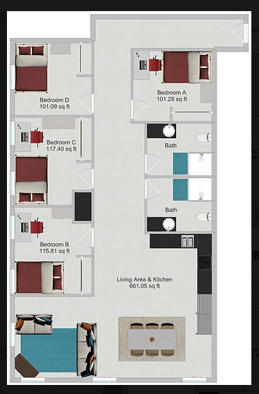 4 Bedrooms 2 Bathrooms Apartment for rent at Northstar Dinkytown in Minneapolis, MN