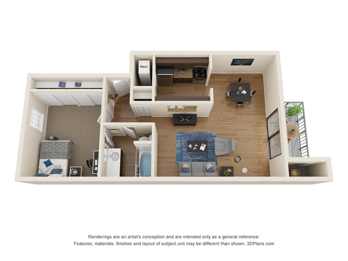 1 Bedroom 1 Bathroom Apartment for rent at La Casa Grande Apartments in Topeka, KS