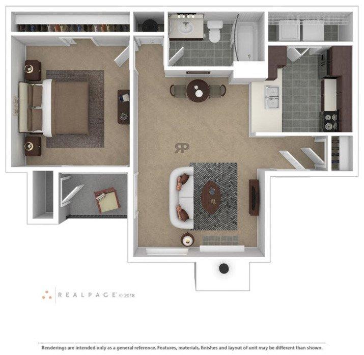 1 Bedroom 1 Bathroom Apartment for rent at Crossroads At Arlington in Arlington, TX