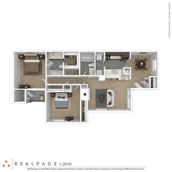 2 Bedrooms 2 Bathrooms Apartment for rent at Crossroads At Arlington in Arlington, TX