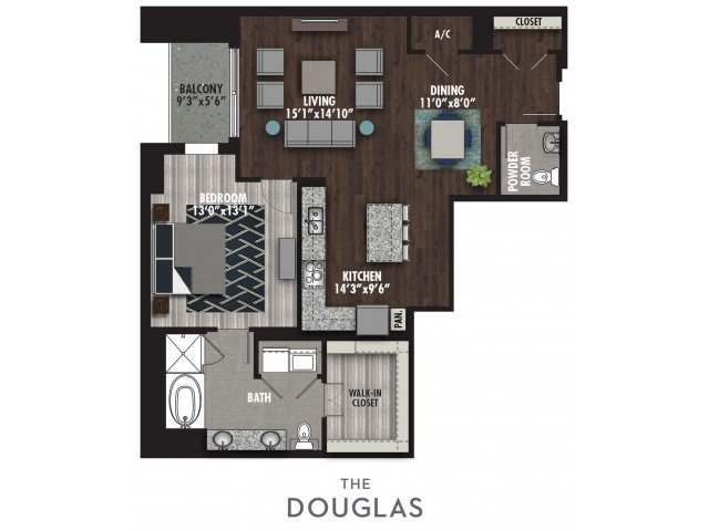 1 Bedroom 2 Bathrooms Apartment for rent at The Royal in Dallas, TX