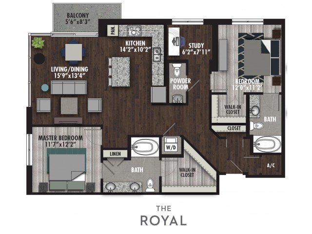 2 Bedrooms 3 Bathrooms Apartment for rent at The Royal in Dallas, TX