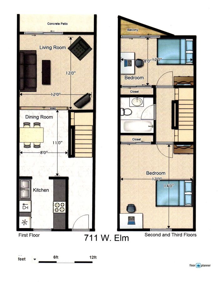 4 Bedrooms 2 Bathrooms Apartment for rent at 711 W. Elm in Urbana, IL