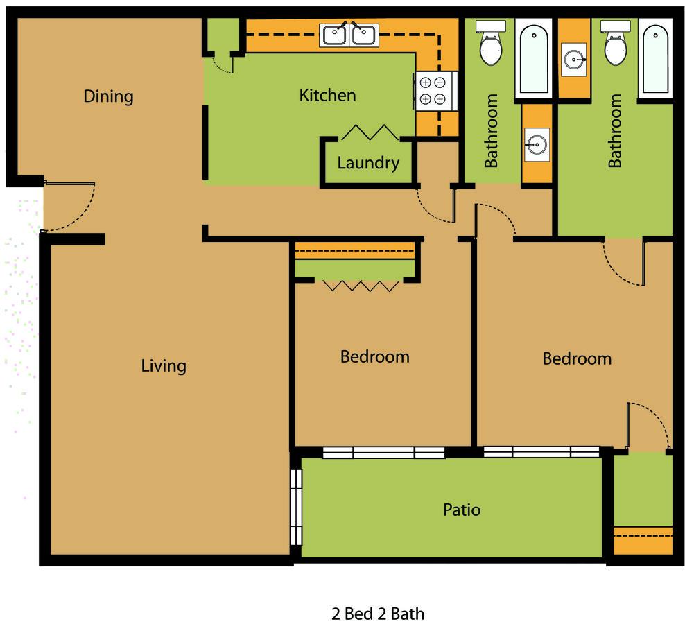 2 Bedrooms 2 Bathrooms Apartment for rent at Monte D'oro Apartments in Birmingham, AL