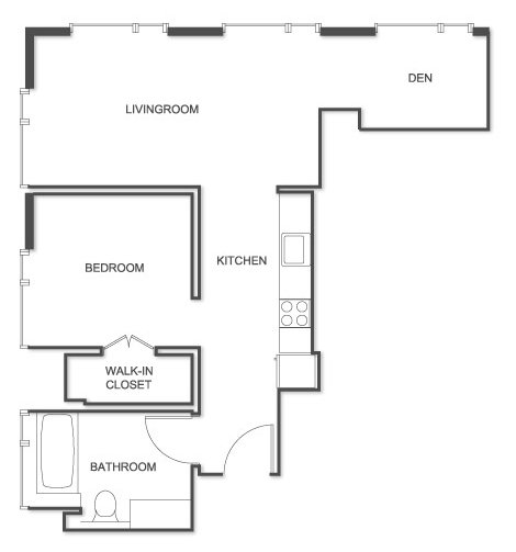 1 Bedroom 1 Bathroom Apartment for rent at 1188 Mission At Trinity Place in San Francisco, CA