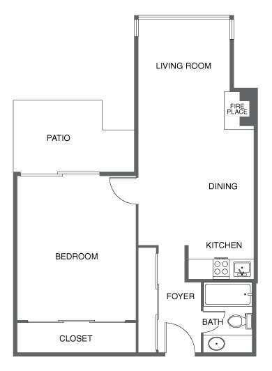 1 Bedroom 1 Bathroom Apartment for rent at 350 Union Street Apartments in San Francisco, CA