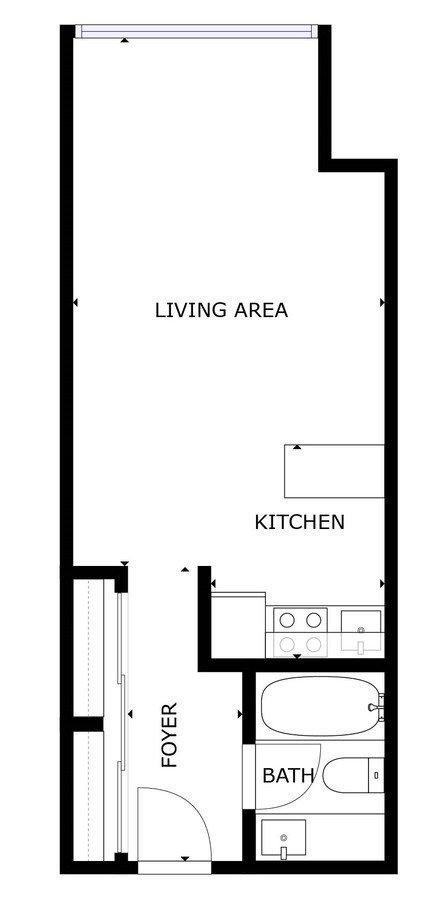 Studio 1 Bathroom Apartment for rent at 350 Union Street Apartments in San Francisco, CA