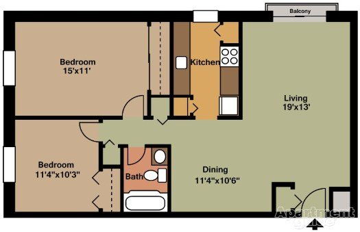 2 Bedrooms 1 Bathroom Apartment for rent at Seville Square in Pittsburgh, PA