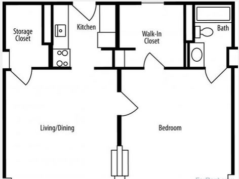 1 Bedroom 1 Bathroom Apartment for rent at Council Tower Senior Apartments in St Louis, MO
