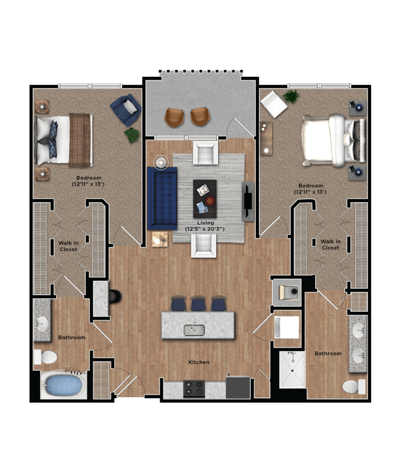 2 Bedrooms 2 Bathrooms Apartment for rent at The View at Woodstock in Woodstock, GA